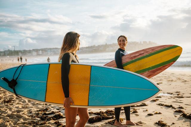 Surfen op Bondi Beach