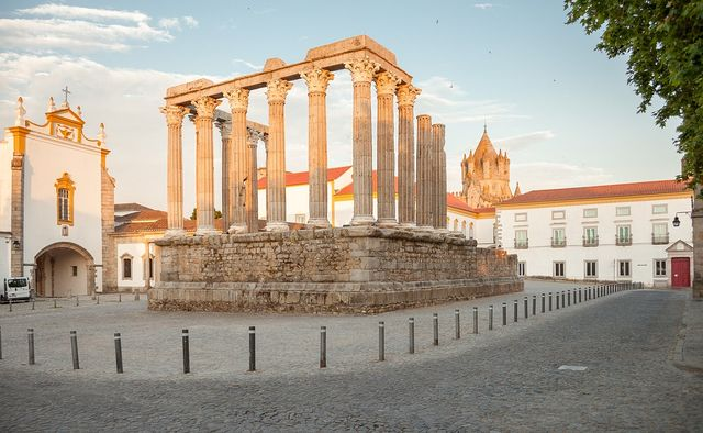 tempel in Evora