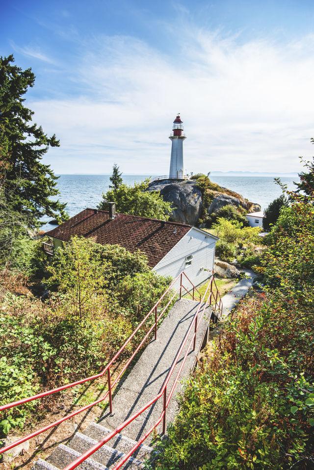 Vuurtoren op Vancouver Island