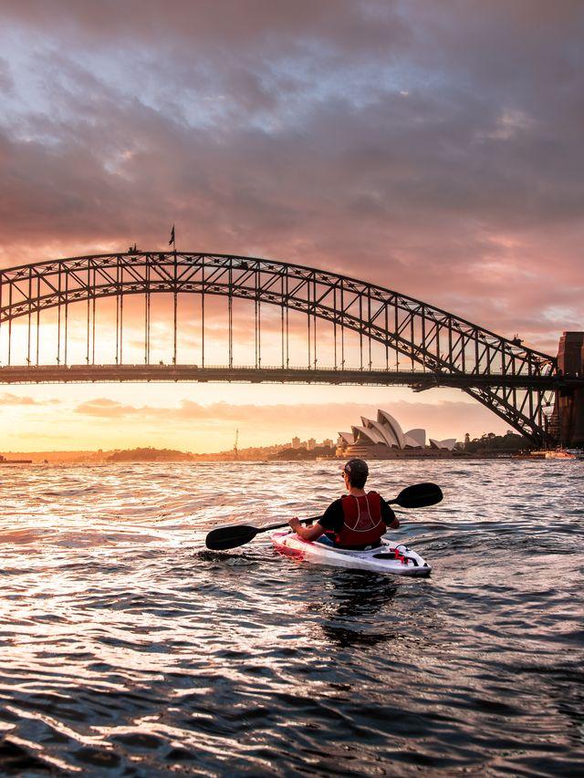 Kajakken in Sydney