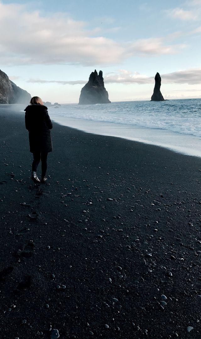 Het zwarte strand van Reynisfjara