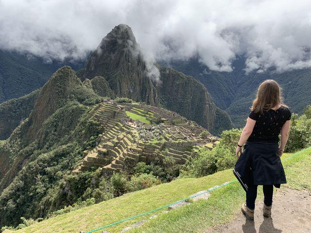 Reisspecialist Anouk bij de Macchu Picchu