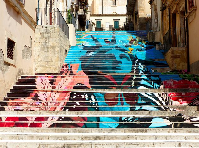 Street art in Noto, Sicilië