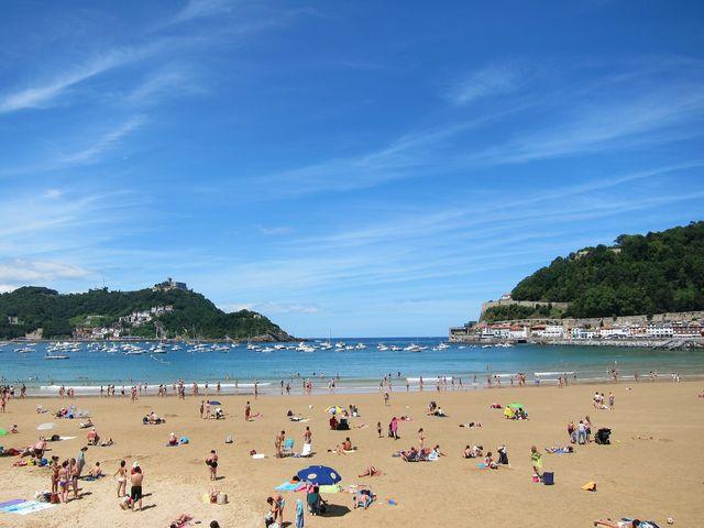 Strand van San Sebastian