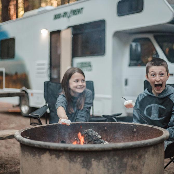 Familiereis per camper door de rockies