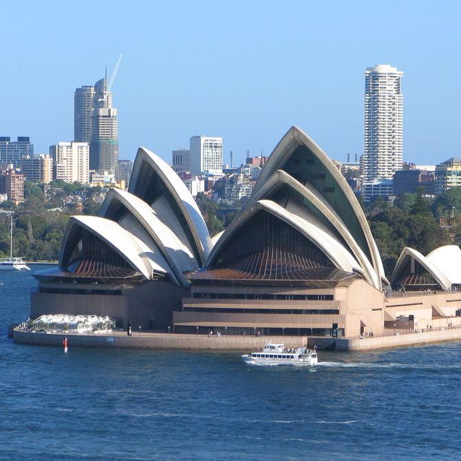 Sydney Opera House met kinderen