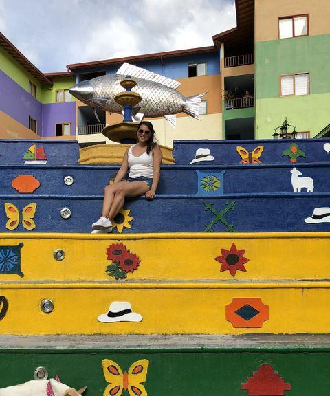 Gezinsvakantie Colombia Guatape trap