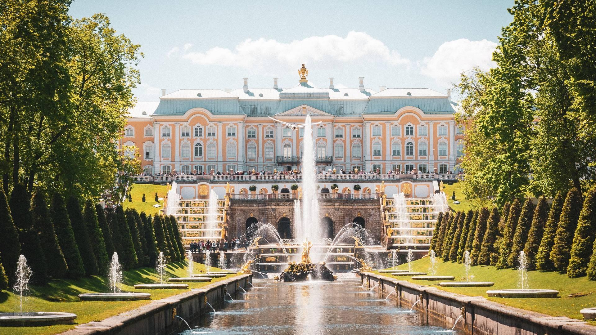 Peterhof, net buiten St. Petersburg