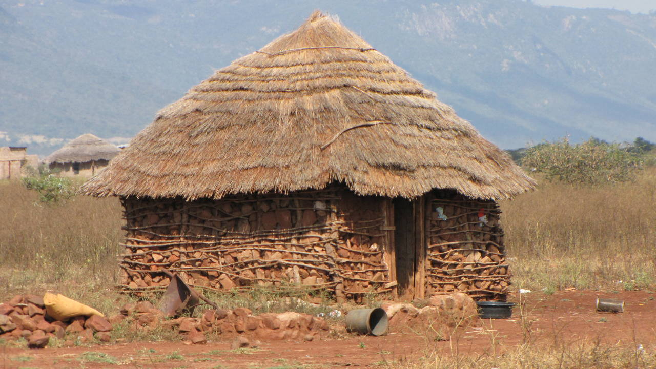 Huisje van lokale bevolking in eSwatini