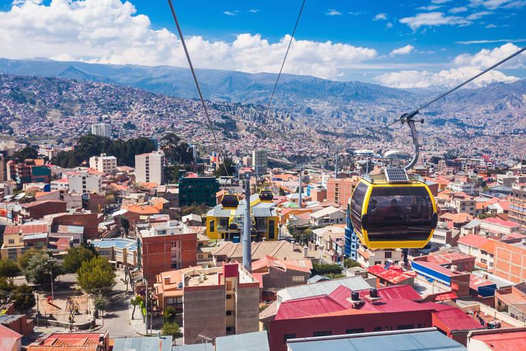 De kabelbaan in La Paz