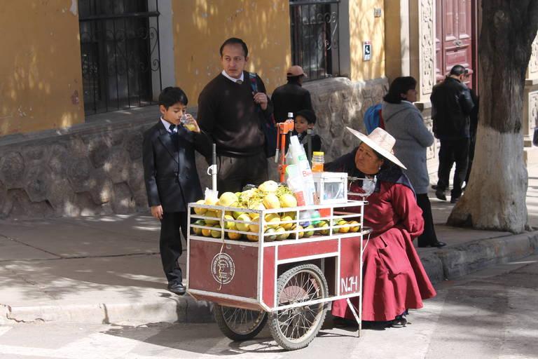 Locals in Bolivia