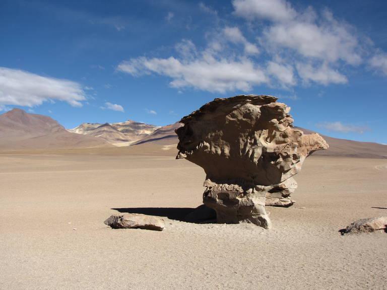 Rotsformatie in de woestijn