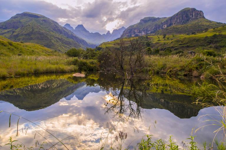 Uitzicht in Drakensbergen