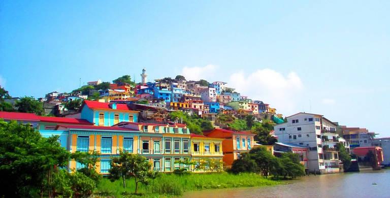 Gezellige wijk Las Peñas in Guayaquil