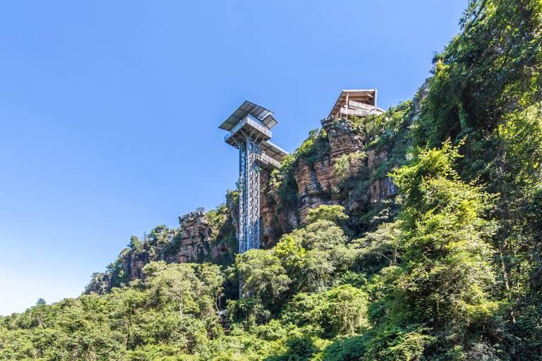 Graskop Gorge Lift aan de Panorama Route
