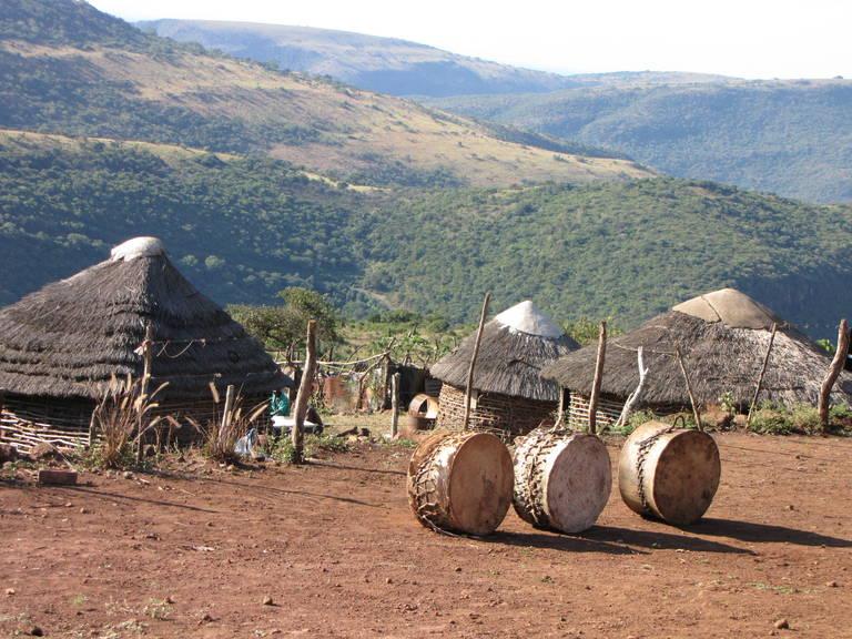 Dorps aanzicht in eSwatini