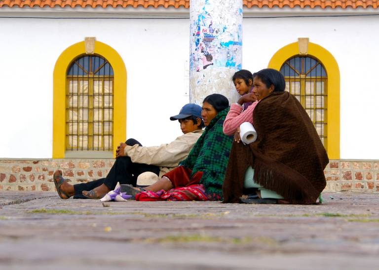 Lokale bevolking in Sucre