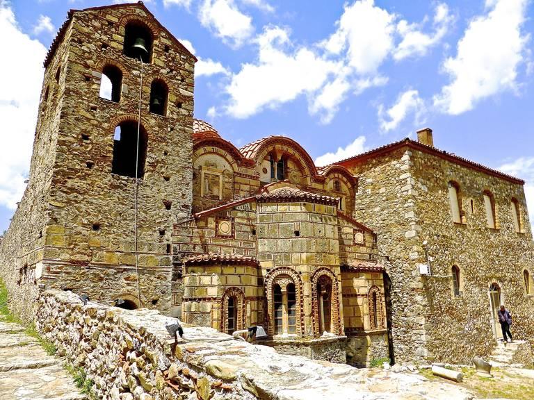 Oude kerk in Mystras