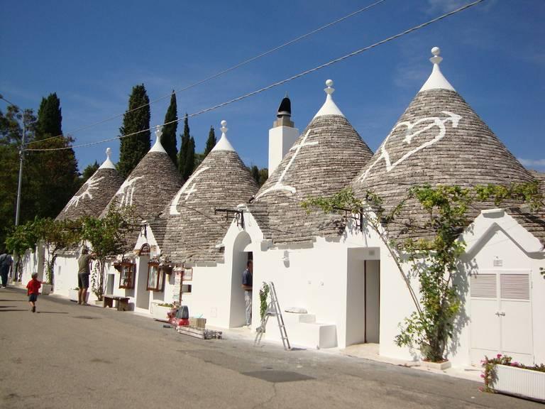 Trulli huisjes in Alberobello, Italië