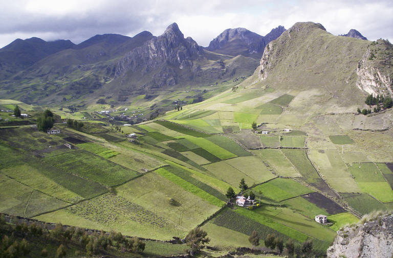 Landschap in de omgeving Quilotoa